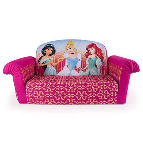 Marshmallow Furniture, Children's 2 in 1 Flip Open Foam Sofa, Disney Princess, by Spin Master by Marshmallow Furniture