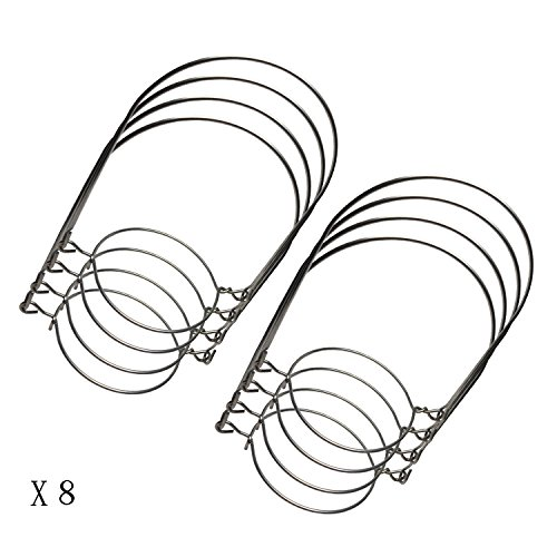 Silver Stainless Steel Wire Handles (Handle-Ease) for Mason, Ball, Canning Jars (8 Pack, Regular Mouth)