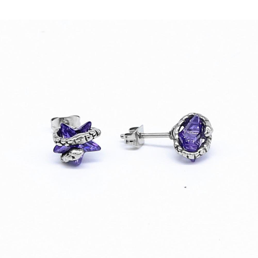 Ludage Earrings, Zircon Star Ear Nail Titanium Steel Men and Women General Earrings Allergy-Proof
