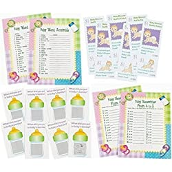 96 pc Baby Shower Game Bundle