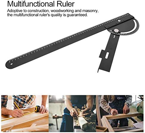 Durable Multifunctional Ruler, Guide Ruler, for Construction Woodworking Woodworker Supplies Carpentry Supplies