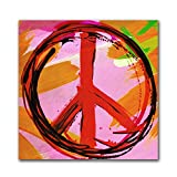 Th-Ink Art ''Peace Passion'' Canvas Wall Art, 23 by 23-Inch