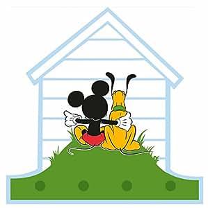 """Percheros decorativos barra de 4 plazas """"Mickey Mouse"""""""