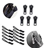 YaHoGa 148 PCS Zipper Repair Kit Zipper Replacement for Bags, Jackets, Tents, Luggage, Sleeping Bag, with Plier and Pulls
