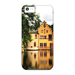For Iphone 5c Tpu Phone Case Cover(lakeside Castle)