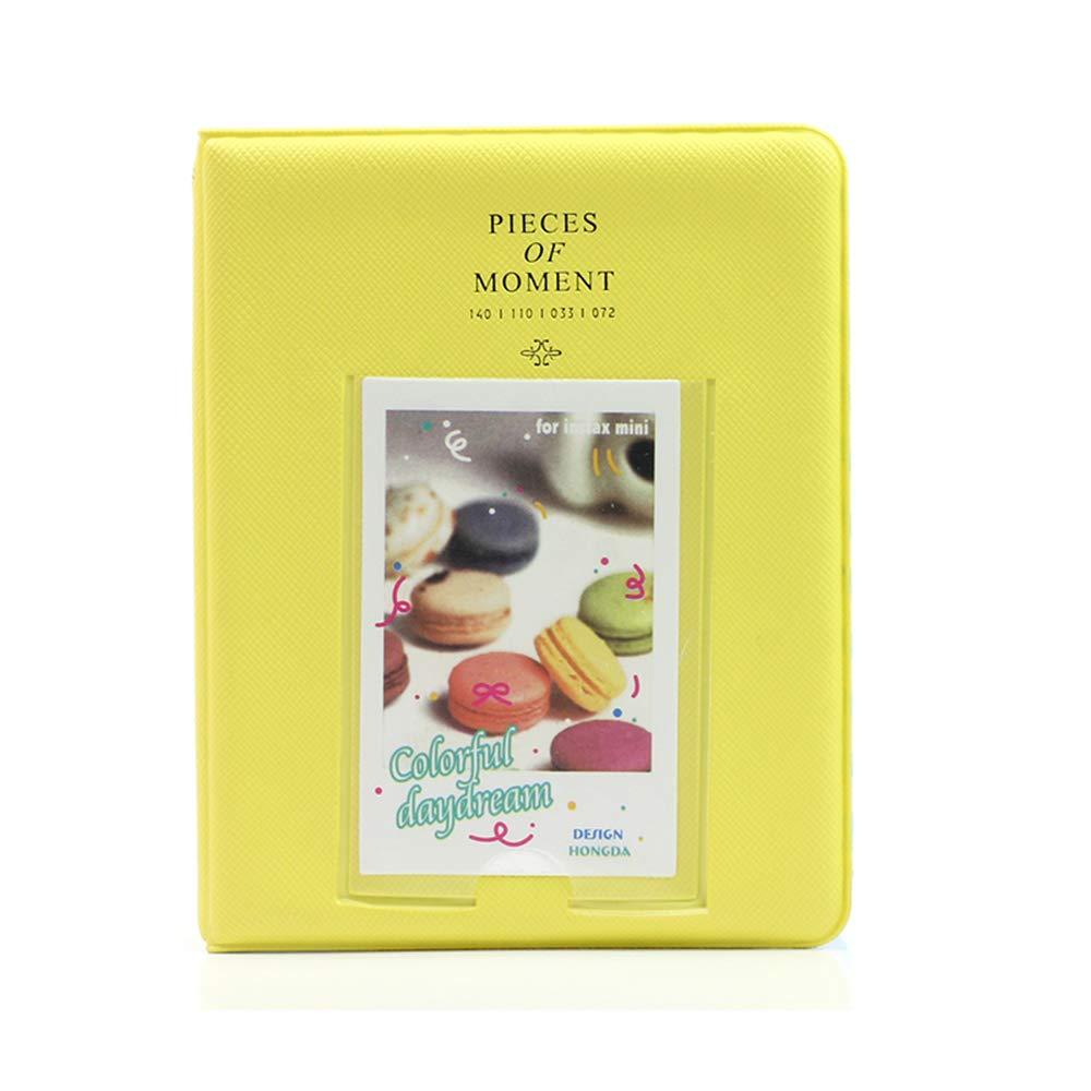 Xeminor 1PCS Exquisite Mini Photo Album with 64 Pockets Lovely Photo Storage Case for Polaroid Fijifilm Instax Mini 8 7s 25 50s 90 Random Color