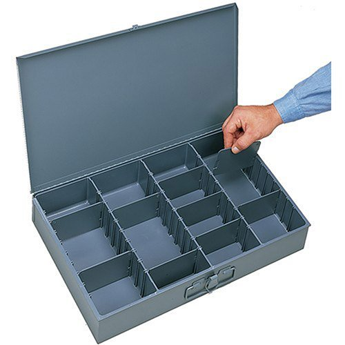 DURHAM Compartment Box - 18x12x3'' - (13) Compartments - With Adjustable Dividers - Lot of 4