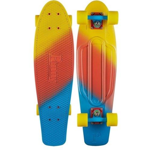 Penny Nickel Fade Complete Skateboard, Canary, 27'