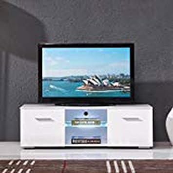 Amazon Com High Gloss White Tv Stand Unit Cabinet Tv Entertainment