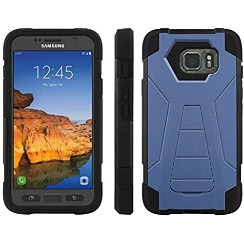 AT&T [Galaxy S7 Active] ShockProof Case [ArmorXtreme] [Black/Black] Hybrid Defender [Kickstand] - [Classic Blue] for Samsung Galaxy [S7 Active] Sales