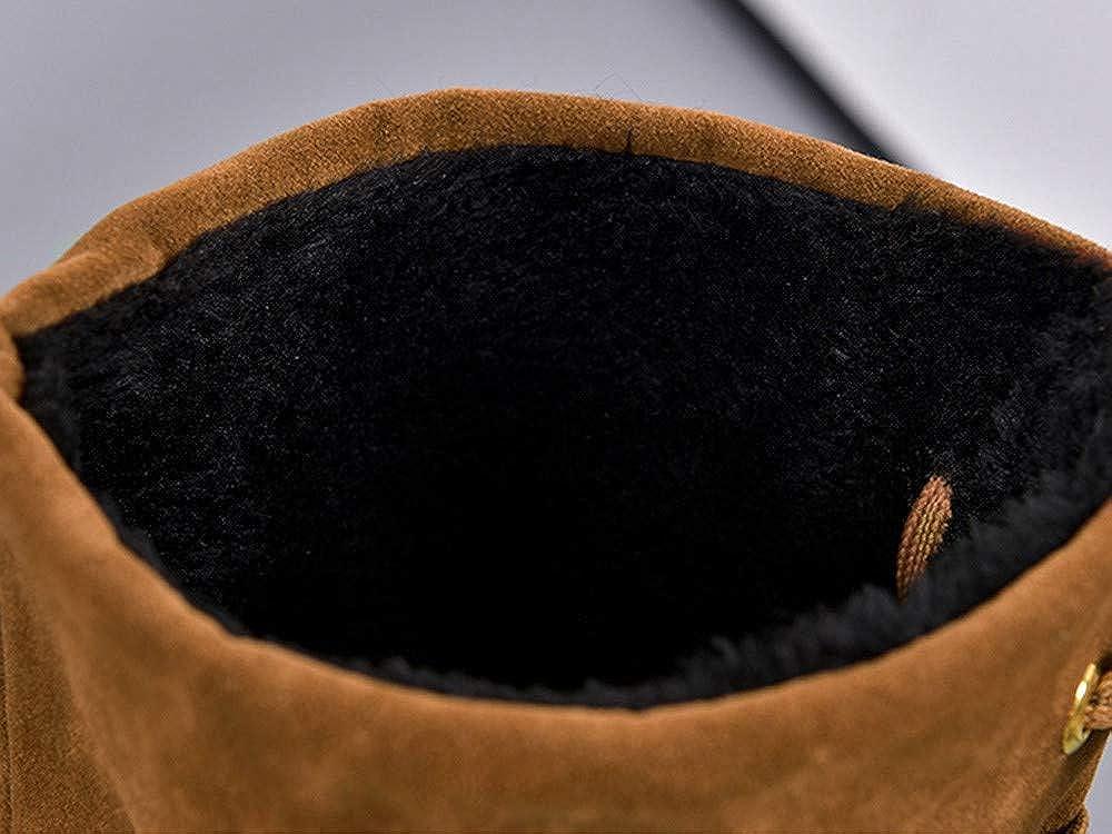 Botines Mujer Invierno OtoñO,Naturazy Zapatos De Mujer Botas Cortas De Mujer Botines Moda OtoñO Invierno Franja Plano Borla Casual TacóN Alto Incrementar ...