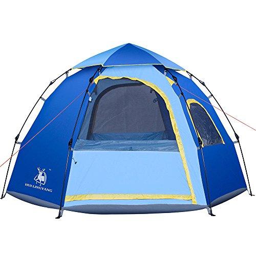 できるフリル援助スポーツ&アウトドア /アウトドア / テント /テント本体/ Family Tent 4-5 Person Automatic Pop Up Tents Waterproof for Camping Hiking