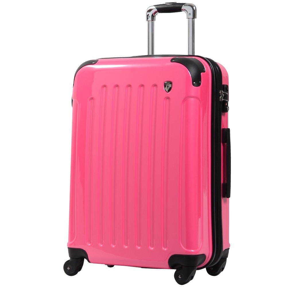 [グリフィンランド]_Griffinland TSAロック搭載 スーツケース 超軽量 ミラー加工 newFK1037 ファスナー開閉式 B0061WVMFI S(小)型|バーニングピンク バーニングピンク S(小)型