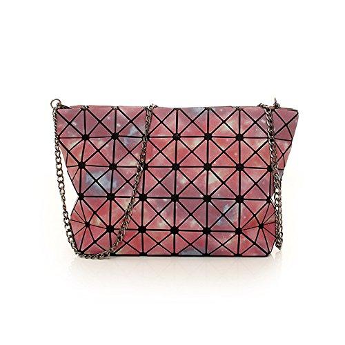 Aoligei Géométrie unique sac à bandoulière Fashion pliage sac chaîne lumineuse A