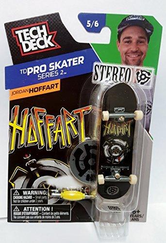 Tech Deck Skateboard TD Pro Skater Series 2 Jordan Hoffart Stereo 5/6 Finger Board by tech deck