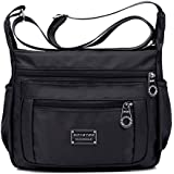 Soyater Nylon Crossbody Bags for Women with Pockets, Sable