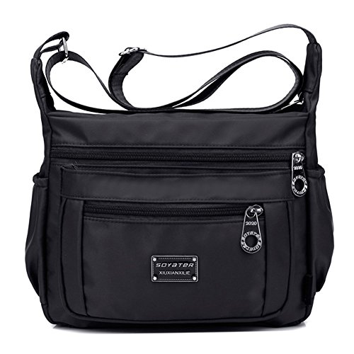 Ladies Purse (Soyater Nylon Crossbody Bags for Women with Pockets, Sable)