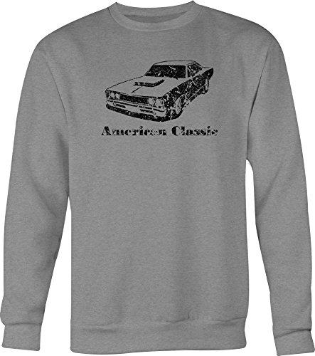 DISTRESS American Classic Plymouth Mopar Dodge Super Bee Crewneck Shirt - Medium ()