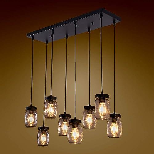Wellmet 8-Light Mason jar Chandelier