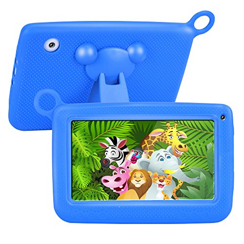 【UPGRADED】 TUFEN Best Tablet for Kids, 7'' HD Display with Silicone Bumper (1GB RAM + 8GB ROM, Android 6.0, Playstore, Youtube, Netflix, PARENT-CONTROL IWAWA, Wifi Offline) (Q758 Blue) by TUFEN
