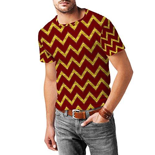 Gryffindor House Chevrons Mens Sport Mesh T-Shirt Herren XS - 3XL
