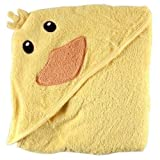 Luvable Friends Animal Face Hooded Woven Terry Baby Towel Duck New