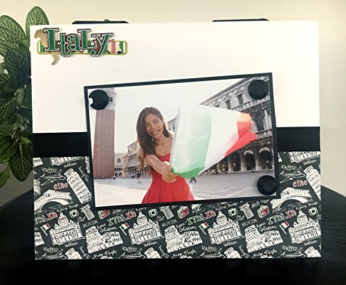Italy Picture Frame Magnetic Gift Home Decor Photo 5 x 7 9 x 11 Rome Europe Travel Graduation Friends Sisters Girls -Italy Rome colosseum Travel Vacation World Italian (Italy Easel)