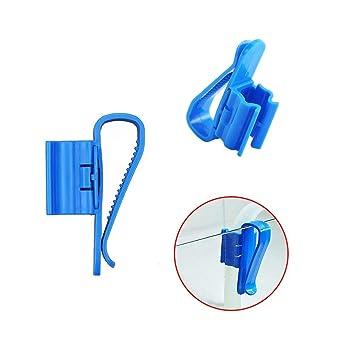 Clips de Fijación el Tubo de Acuario 2 piezas Sostenedor de Manguera para Manguera de Acuario o Tubo de Agua Multifuncional Blanco + Azul: Amazon.es: ...