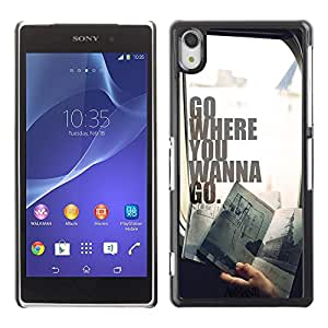 Dragon Case - FOR Sony Xperia Z2 - Don't give up in life - Caja protectora de pl??stico duro de la cubierta Dise?¡Ào Slim Fit