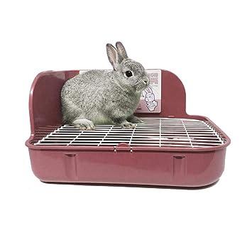 KOBWA - Inodoro para Mascotas, para Esquina de Inodoro, para Conejos, Chinchilla,