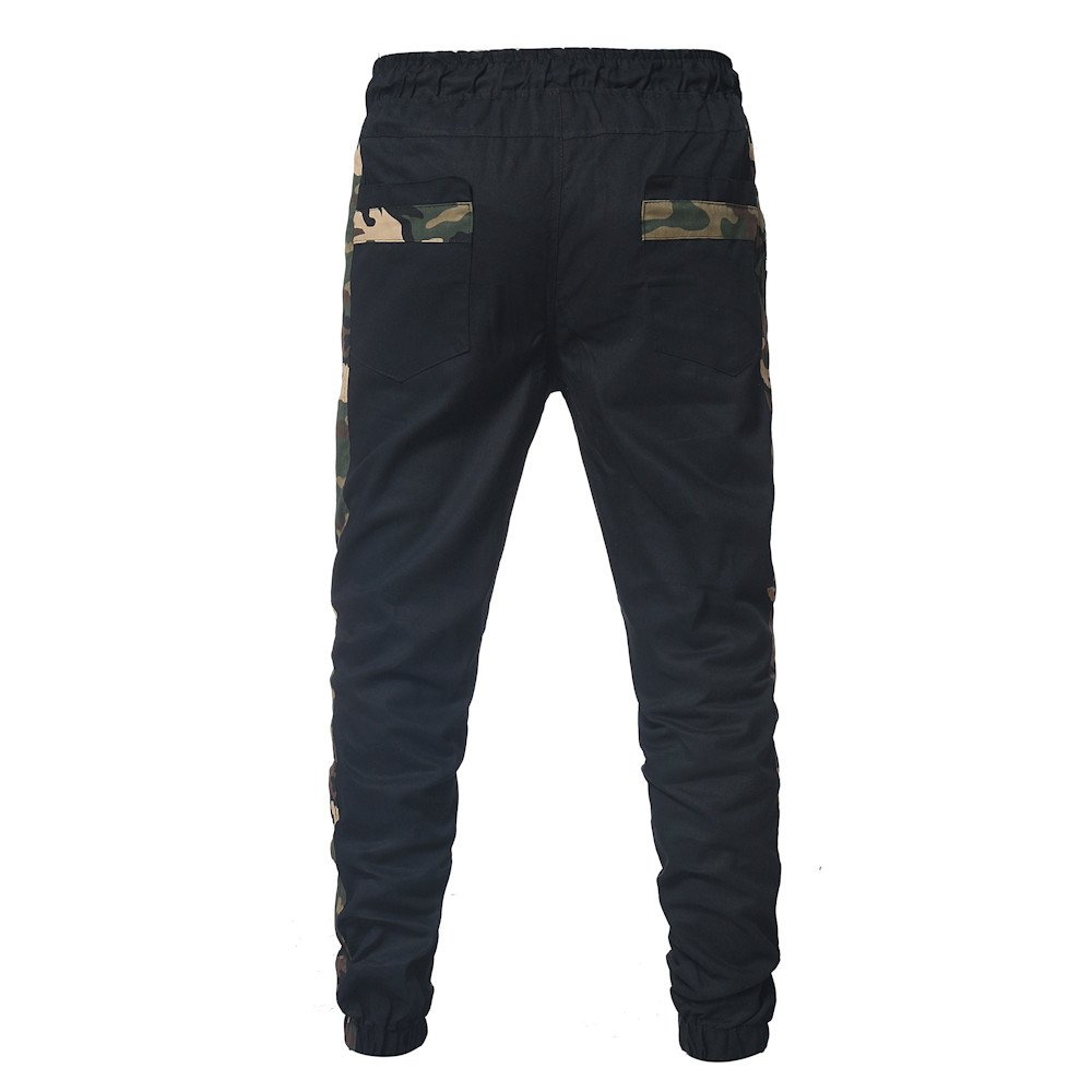 Mens Sweatpants, F_Gotal Men's Casual Camouflage Patchwwork Elastic Waist Sports Running Jogger Pants with Pockets by F_Gotal Mens Pants (Image #4)
