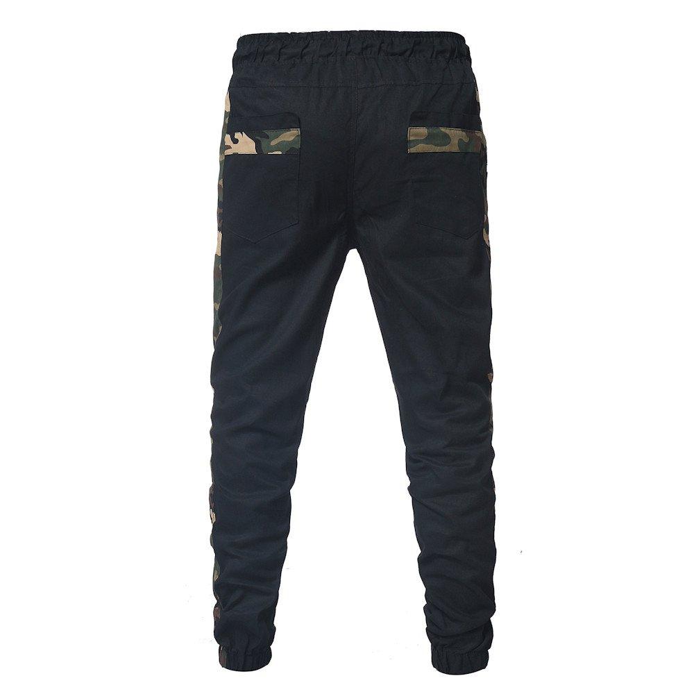 Spbamboo Mens Sweatpants Sport Joint Lashing Belts Casual Loose Drawstring Pants by Spbamboo (Image #4)
