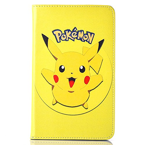 Case for Samsung Galaxy Tab A 7.0 2016,Zakao Cartoon Cute Flip Stand PU Leather Lightweight Shockproof Cover for T280 T285,Kawaii Animated Stylish Fashion Gift for Kids Child Teens Girls (#06) (Pokemon Tablet Case 7 Inch)