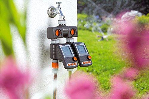 Possibilit/à di Collegamento per 2 Dispositivi al Rubinetto Idoneo per Computer di Irrigazione o Watertimer Gardena Gardena 8193-20 Distributore a 2 Vie