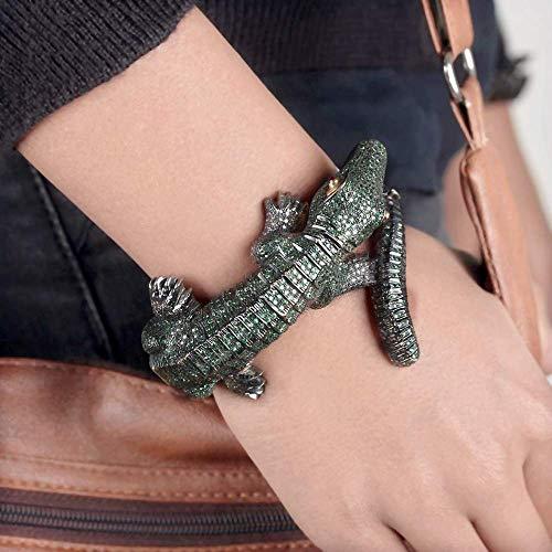 Lizard Shape Bangle 14 k Yellow Gold 4.53 ct. Natural Diamond Ruby Tsavorite Pave Setting Bracelet 925 Sterling Silver Handmade Jewelry