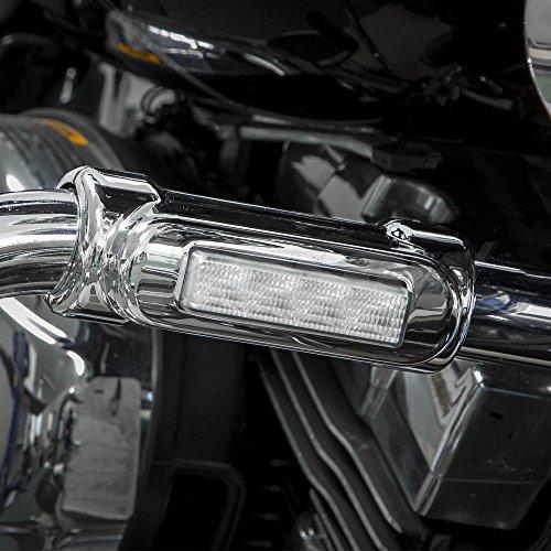 Xk glow xk034014 w chrome motorcycle highway bar switchback driving save aloadofball Gallery