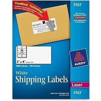 Amazon 5163 Avery Easy Peel Address Label 2 Width X 4