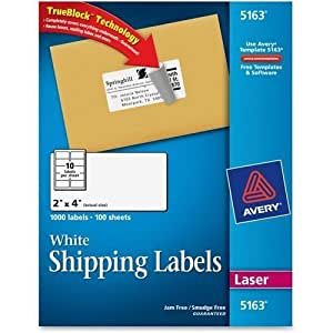 amazon com 5163 avery easy peel address label 2 width x 4