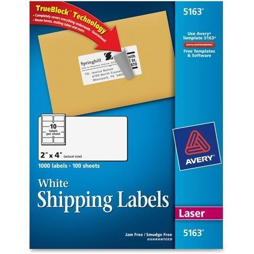Amazon 5163 Avery Easy Peel Address Label 2 Width X 4