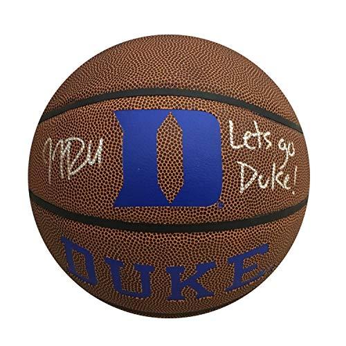 JJ Redick Autographed Duke Blue Devils Signed Basketball Let's Go Duke JSA -