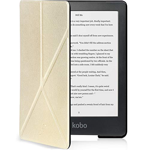 Forefront Cases Smart Case for Kobo Clara HD Case | Magnetic Protective Case Cover and Stand for Kobo Clara (2018) | Origami Design | Smart Auto Sleep Wake Function | Slim Lightweight | Gold