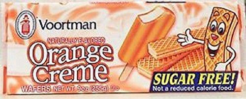 Voortman, Wafer Cookies, SUGAR FREE, Orange Cream, 7oz Bag (Pack of 4) by Voortman