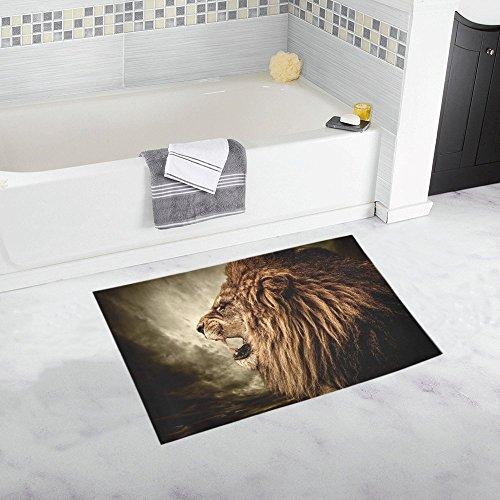 AnnHomeArt lion Non-Slip Bath Rug Bath Mat Rug Doormat 20''x 32'' (Bath Runner Target)
