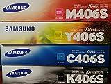 Printing Samsung 406 Genuine color Toner Cartridge Set (CLT-K406S CLT-C406S CLT-M406S CLT-Y406S)