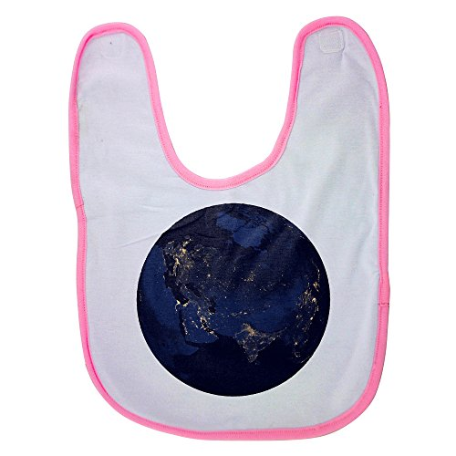 Price comparison product image Pink Baby Bib With Satellite map of Earth at night projected onto a sphere. Baby Boy Bibs,  Dribble Bibs,  Cool Baby Boy Bibs,  Best Baby Bibs,  Best Bibs,  Best Dribble Bibs,  Best Baby Bibs For Drooling