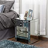 Jacinda Mirrored Single Drawer Nightstand