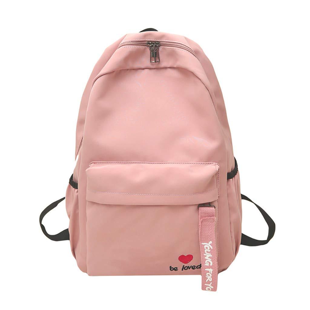 Large Capaticy School Backpack,Outsta Girls Women College Schoolbag Travel Bookbag Rucksack Black