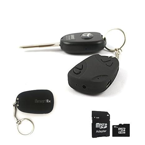 SMARTEX | Espia Camara Ocultra en Llavero + tarjeta de 8GB incluida - Spy Cam llavero de coches para grabaciones de video