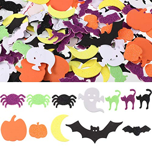 Party Pieces Halloween (Hotop 360 Pieces Halloween Foam Stickers Self Adhesive Craft Stickers for Halloween Birthday Party Decorations, 12)