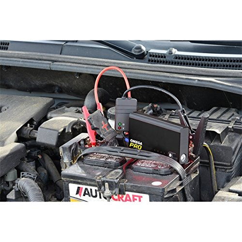 Omega Pro 81100 Omega Pro Portable Power Supply and Jump Starter, 12.21'' Height, 15.36'' Width, 18.5'' Length